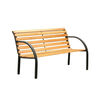 Dumas Transitional Style Patio Bench, Natural Oak