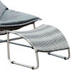 Lili Contemporary 1Pc Patio Chair With 1Pc Ottoman