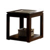 Verona Contemporary End Table, Espresso Finish