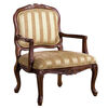 Burnaby Traditional Occasional Chair, Antique Oak