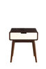 Christa End Table (USB Power Dock), Espresso & White