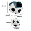 All Star 2 Piece Pack Chair & Ottoman, Soccer: White & Black