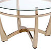Attractive Coffee Table, Gold & Clear Glass