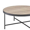 Charming Coffee Table, Weathered Oak Brown