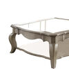 Charming Coffee Table, Brown& Clear Glass