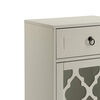 Faddish Side Table, White