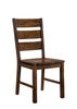 Wooden Side Chair With Block Legs, Brown, Pack Of Two