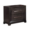 Bradley Transitional Nightstand, Dark Gray Finish