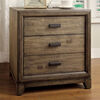 Antler Transitional Night Stand, Natural Ash