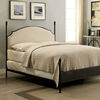 Transitional Full Size Bed with Ball Finials, Black