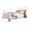 Aesthetic California King Metal Bed, Vintage White