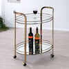 Starla Contemporary Serving Cart In Champagne