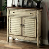 Hazen Country Style Cabinet, Antiqued White & Brown