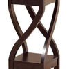 Elegant Design Small Size Plant Stand, Dark Brown