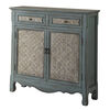 Winchell Vintage Console Table, Antique Blue