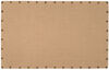 Wooden Corkboard with Nailhead Details, Large, Brown and Bronze