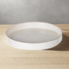 Sturdy Wooden Round Tray, White