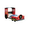 Retro Train Design Metal Twin Bed, Multicolor