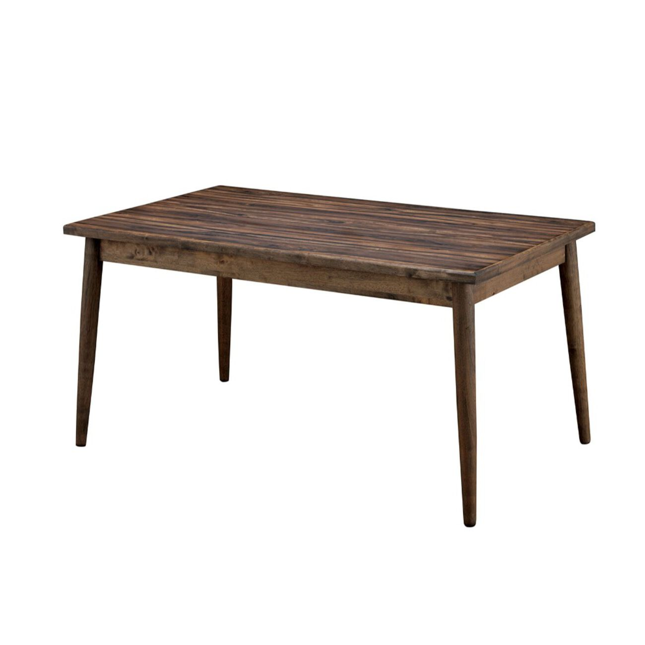 Eindride Mid-Cent Modern Dining Table, Brown