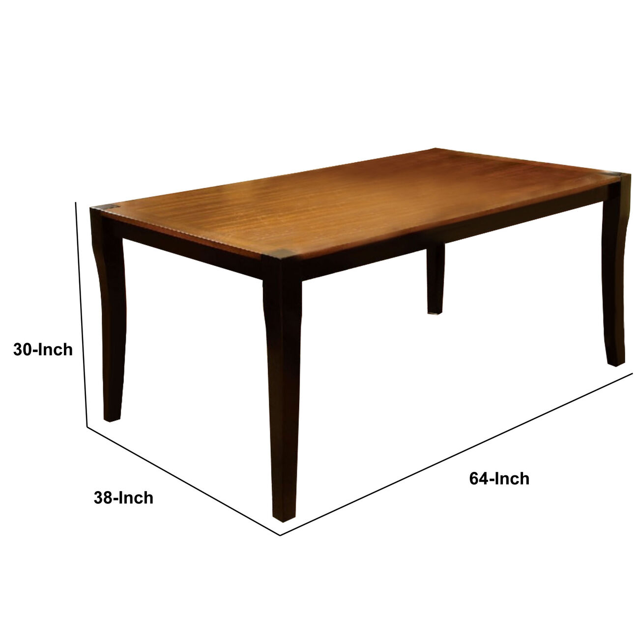 Two Toned Finish Rectangular Dining Table