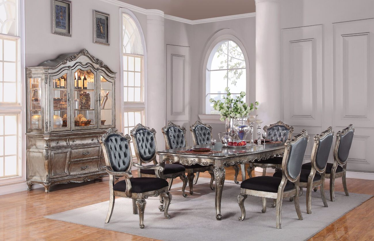 Imperial Dining Table, Antique Platinum