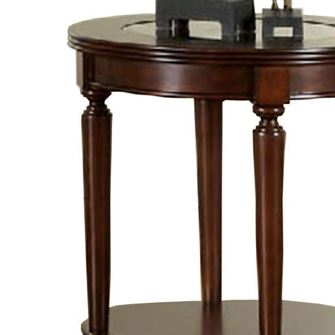 GRANVIA Contemporary End Table, Dark Cherry