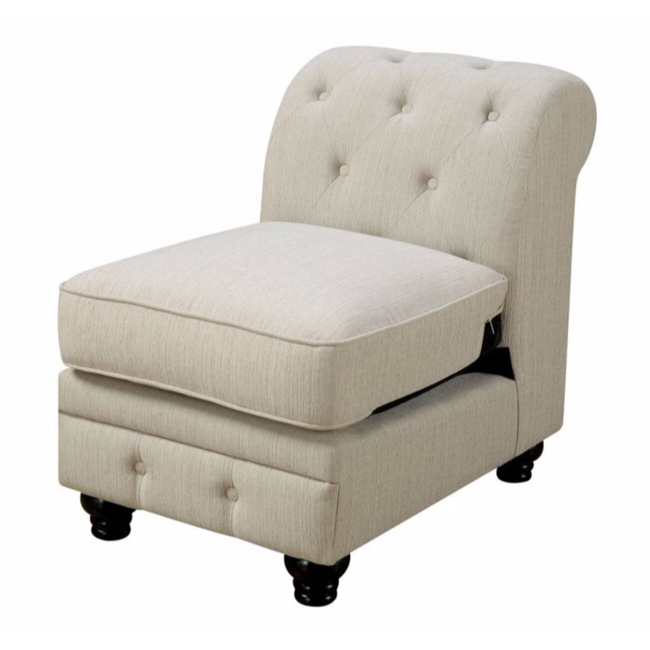 Stanford II Sofa Chair, Ivory Fabric