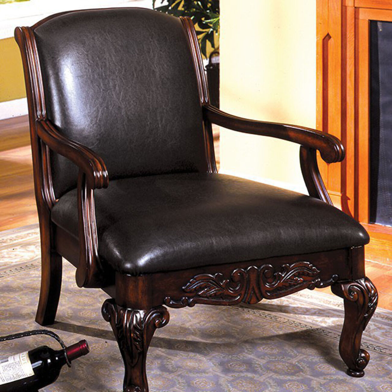 Sheffield Traditional Occasional Chair, Antique Dark Cherry