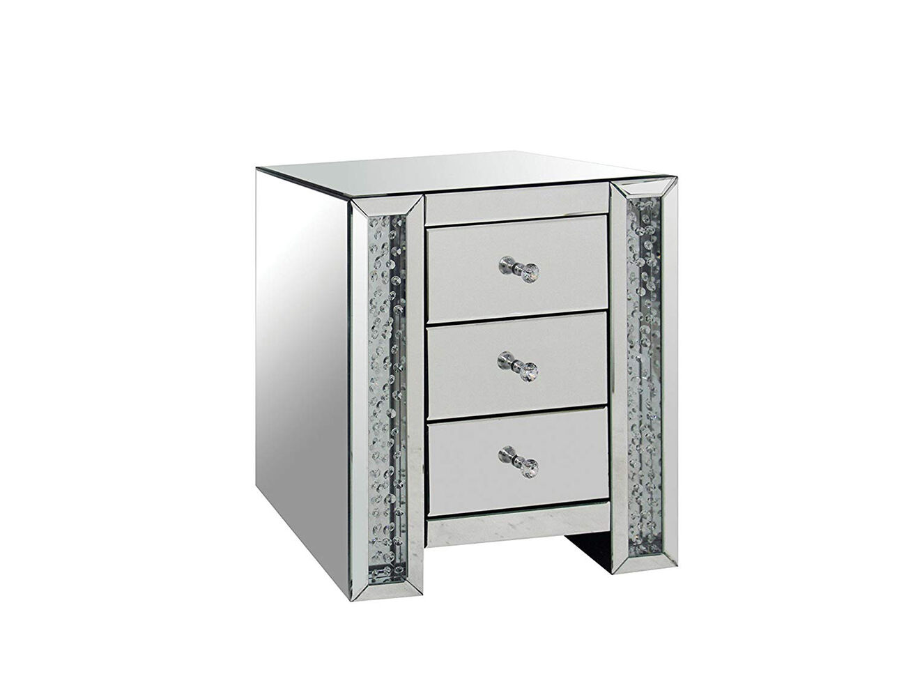 Nysa End Table, Mirrored