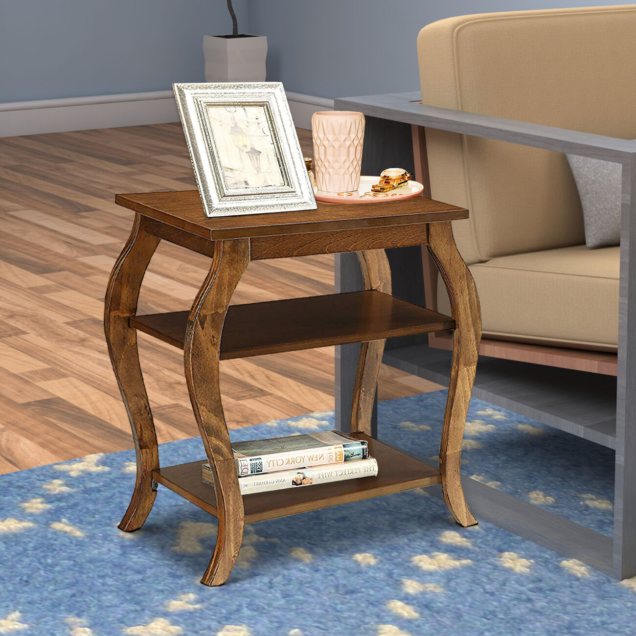Becci End Table, Walnut