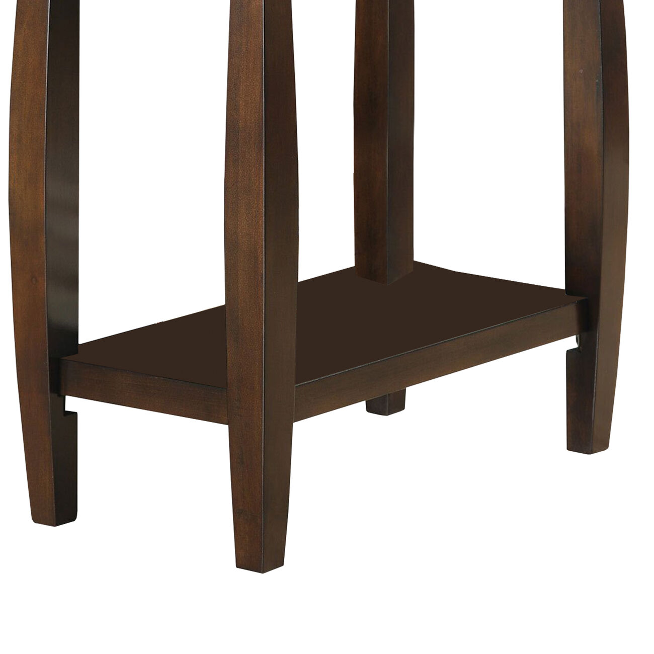 Elegant Wooden Chair Side Table, Brown