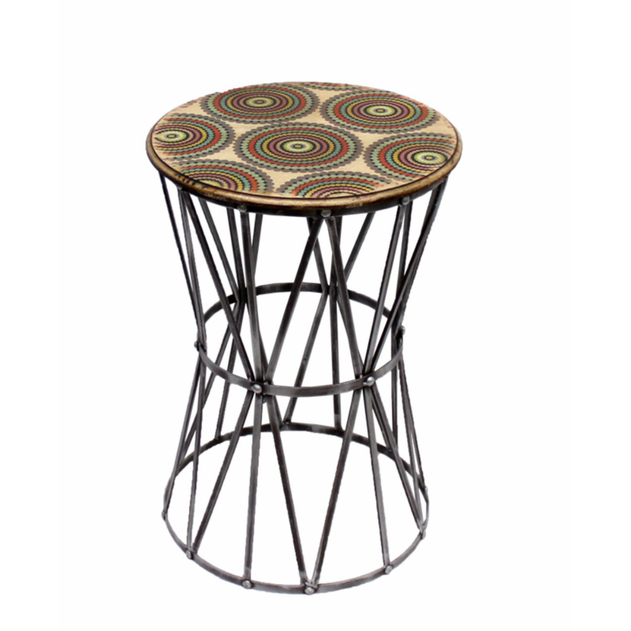 Metal Accent Table,Multicolor
