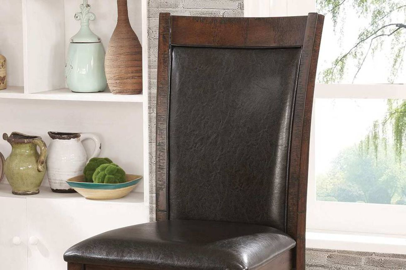 Wooden Count Height Chair, Pack of 2, Cherry Brown & Black