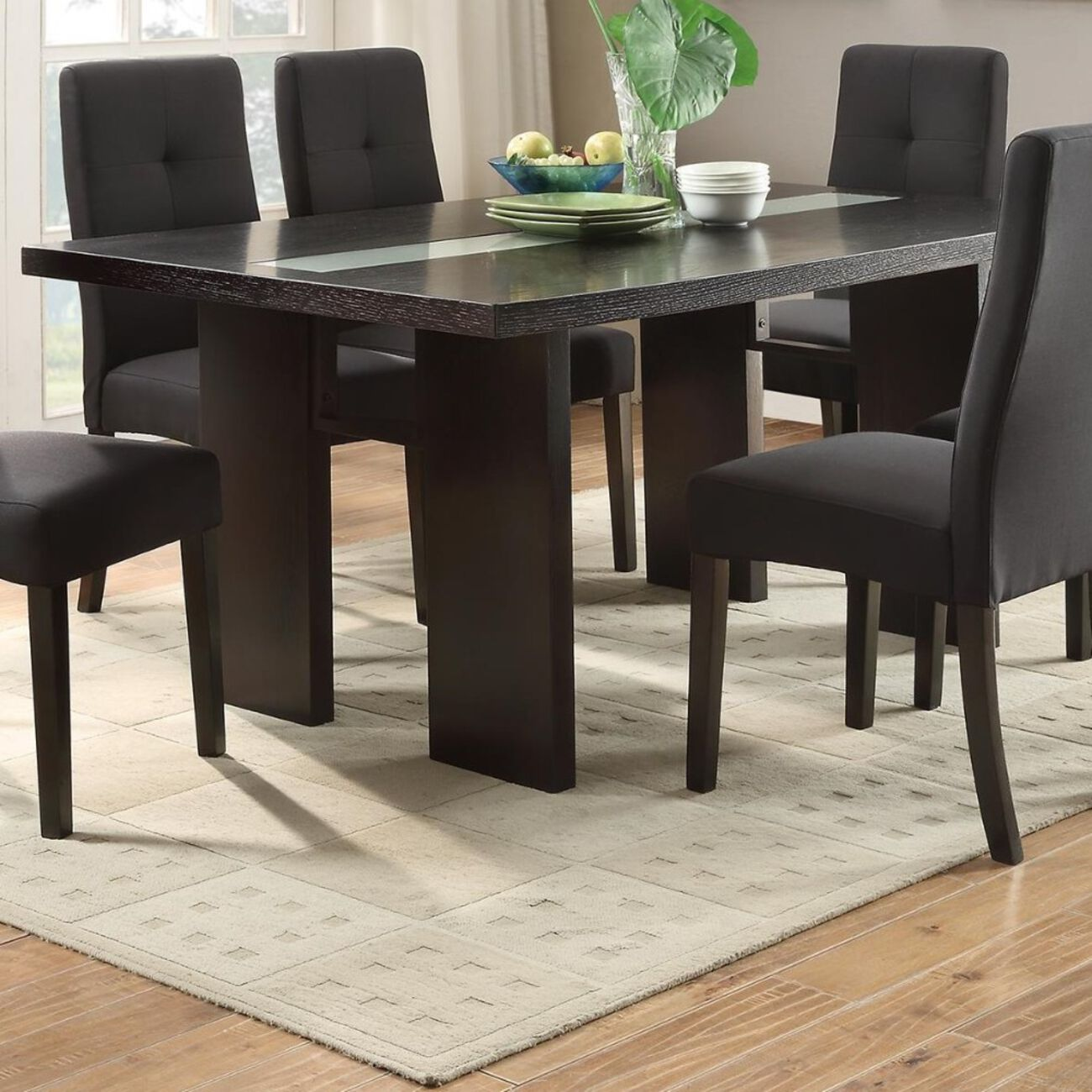 Wooden Dining Table, Brown