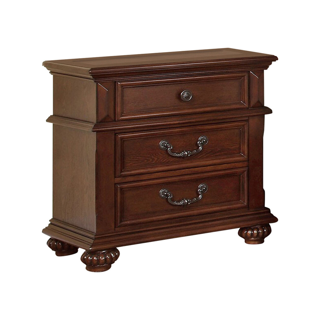 Landaluce Traditional Night Stand In Oak Finish
