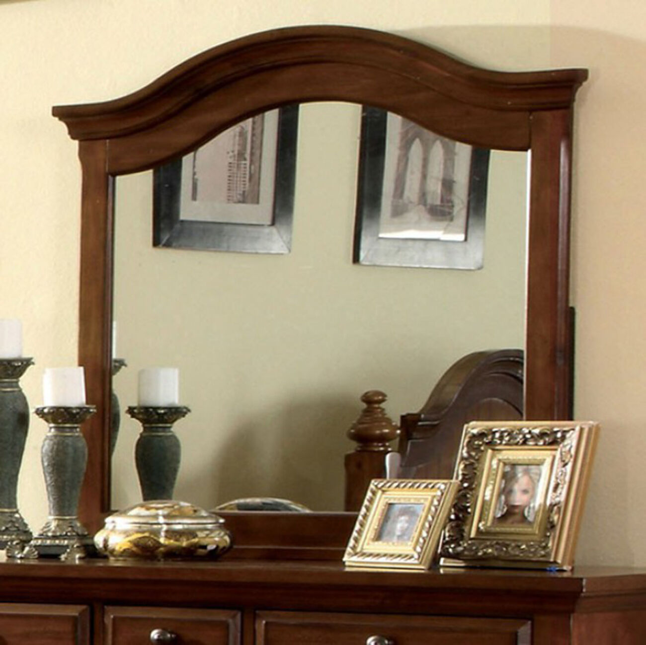 Palm Coast Light Walnut Finish Mirror