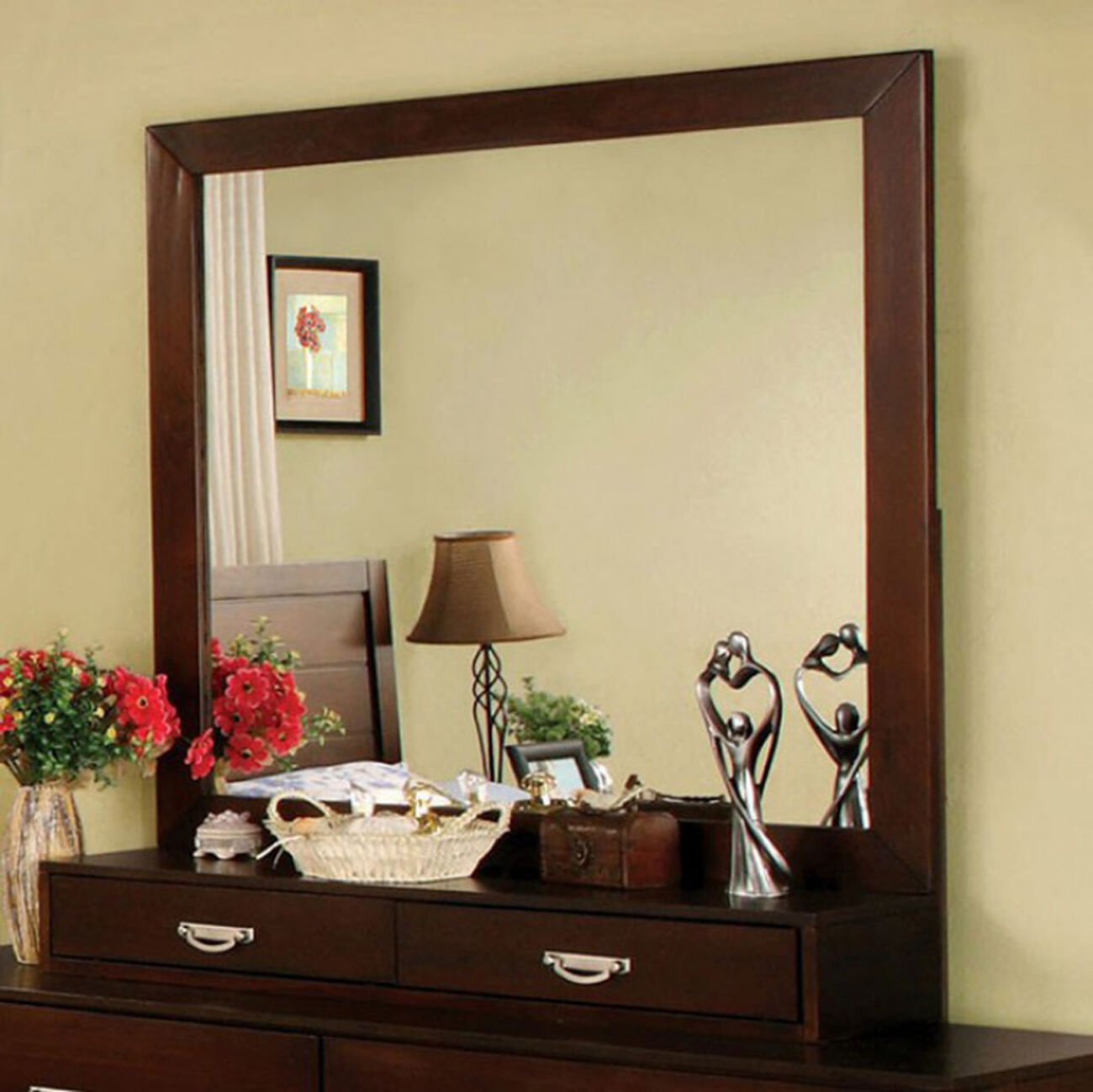 Crystal Lake Transitional Style Mirror