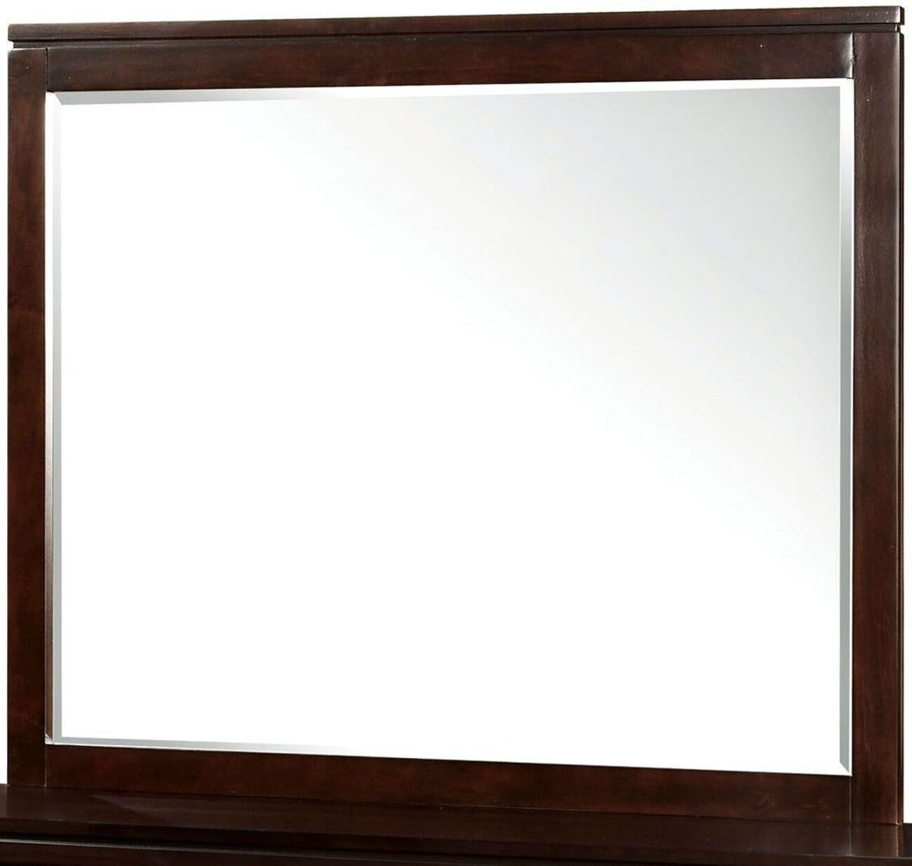 Balfour Transitional Style Mirror , Brown Cherry