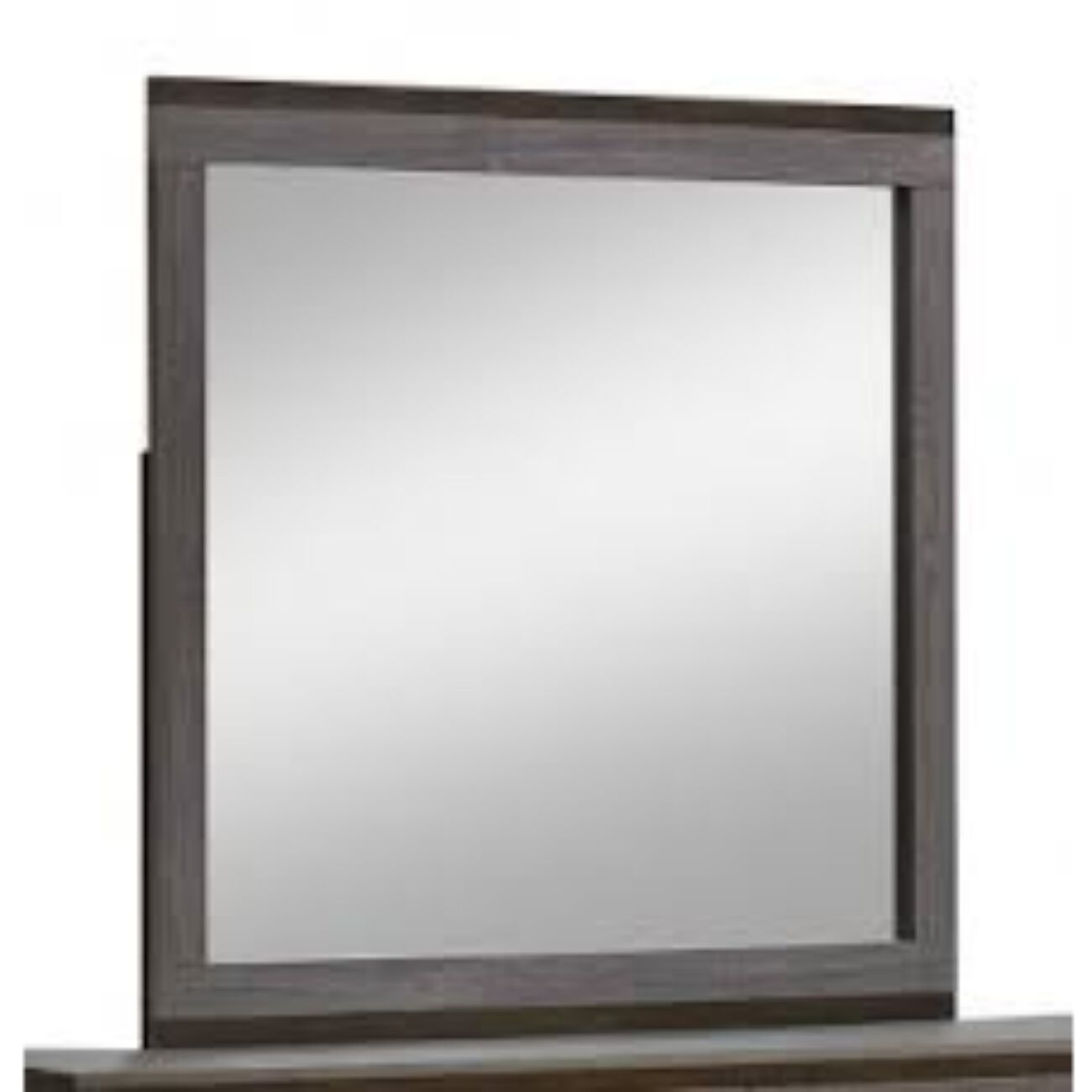 Manvel Contemporary Mirror, Two-Tone Antique Gray