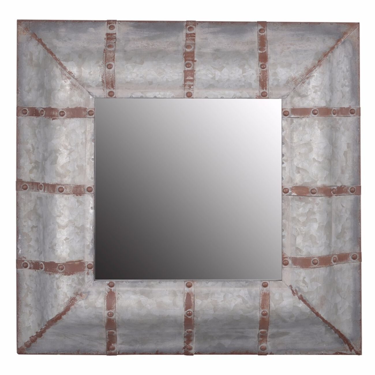Unadorned Rustic Framed Baldwin Mirror