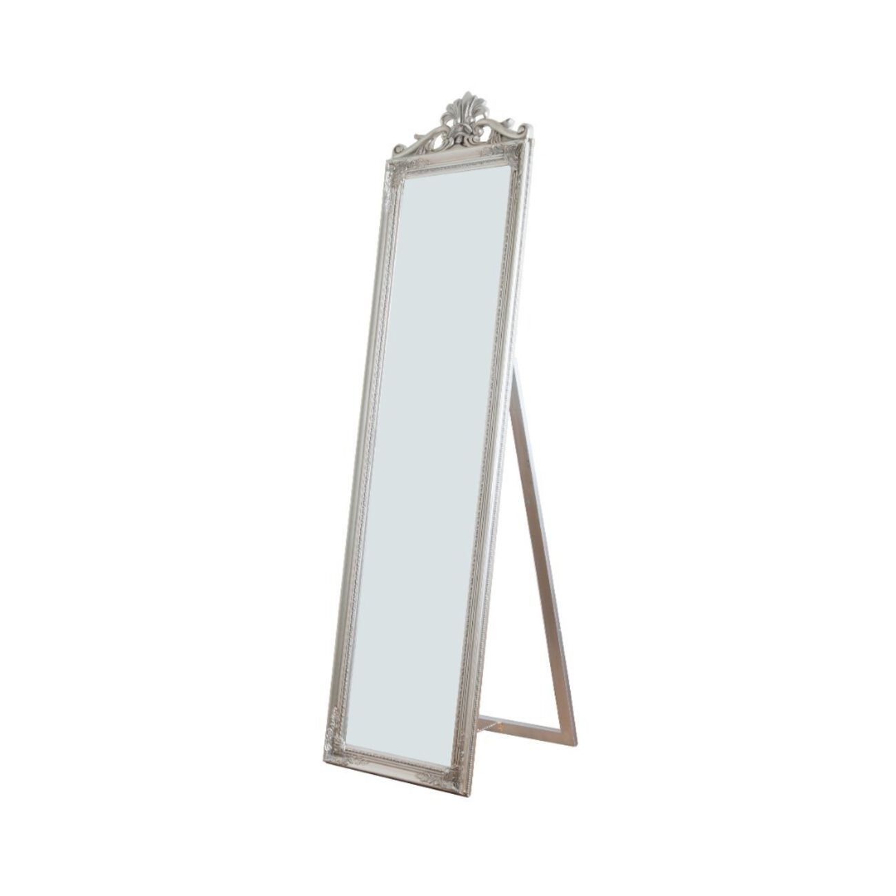 Standing Mirror, Silver