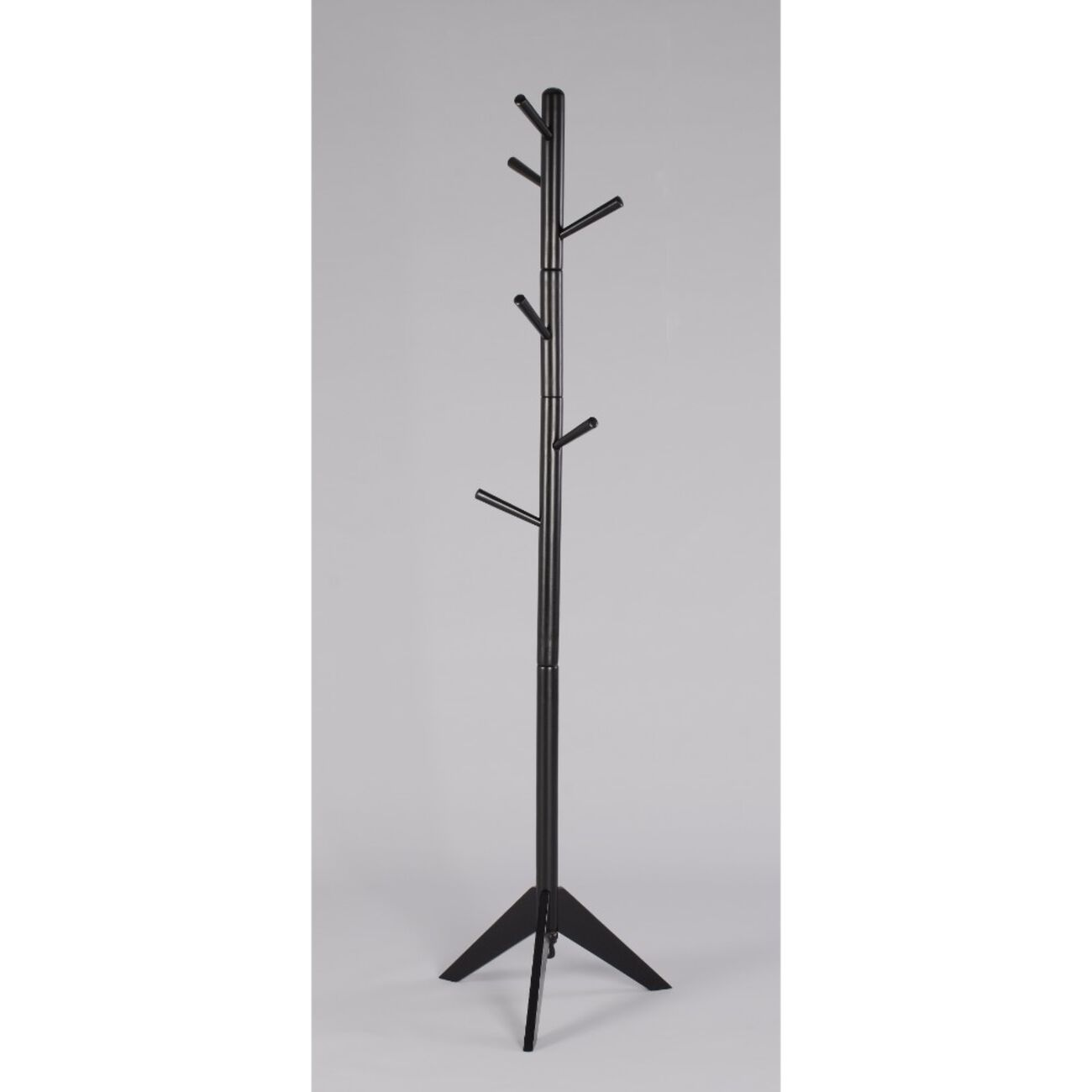 Contemporary Style Hall Tree Coat Rack, Black