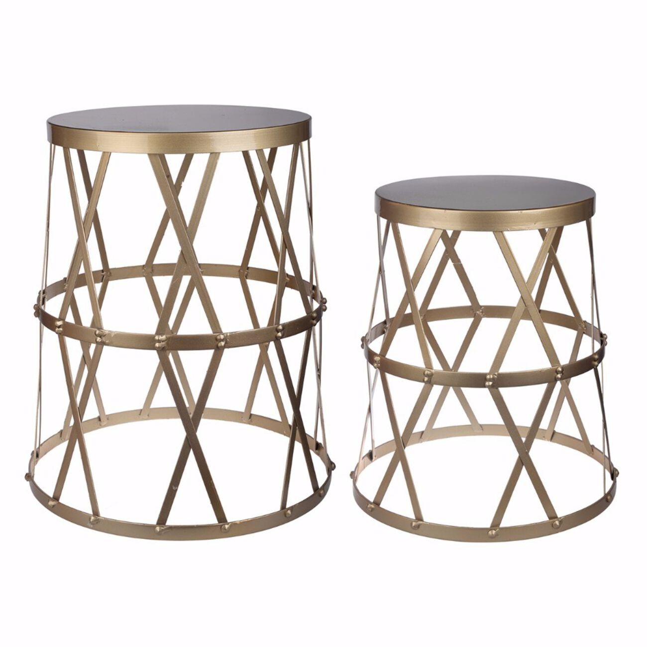 Set of 2 Intriguing Urban Vogue Accent Tables