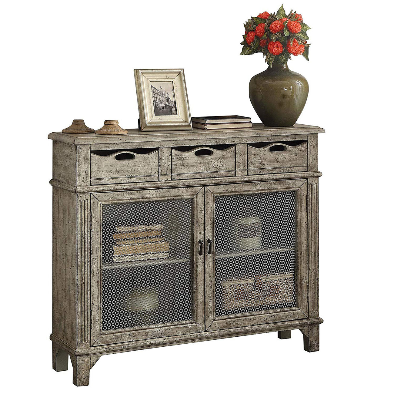 Vernon Console Table With 3 Drawers and 2 Doors