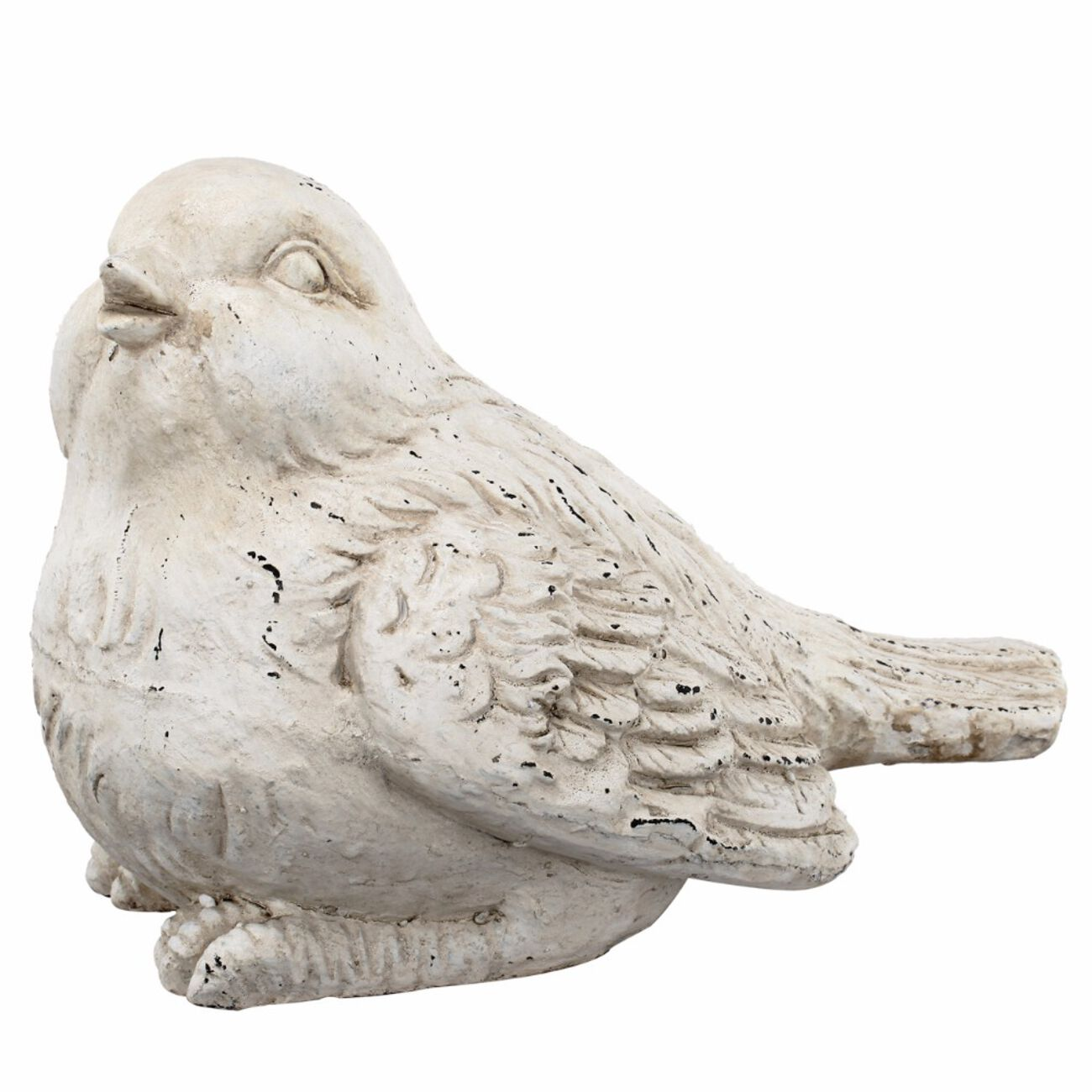 Old Age Look Bird Figurine In Distressed Finish