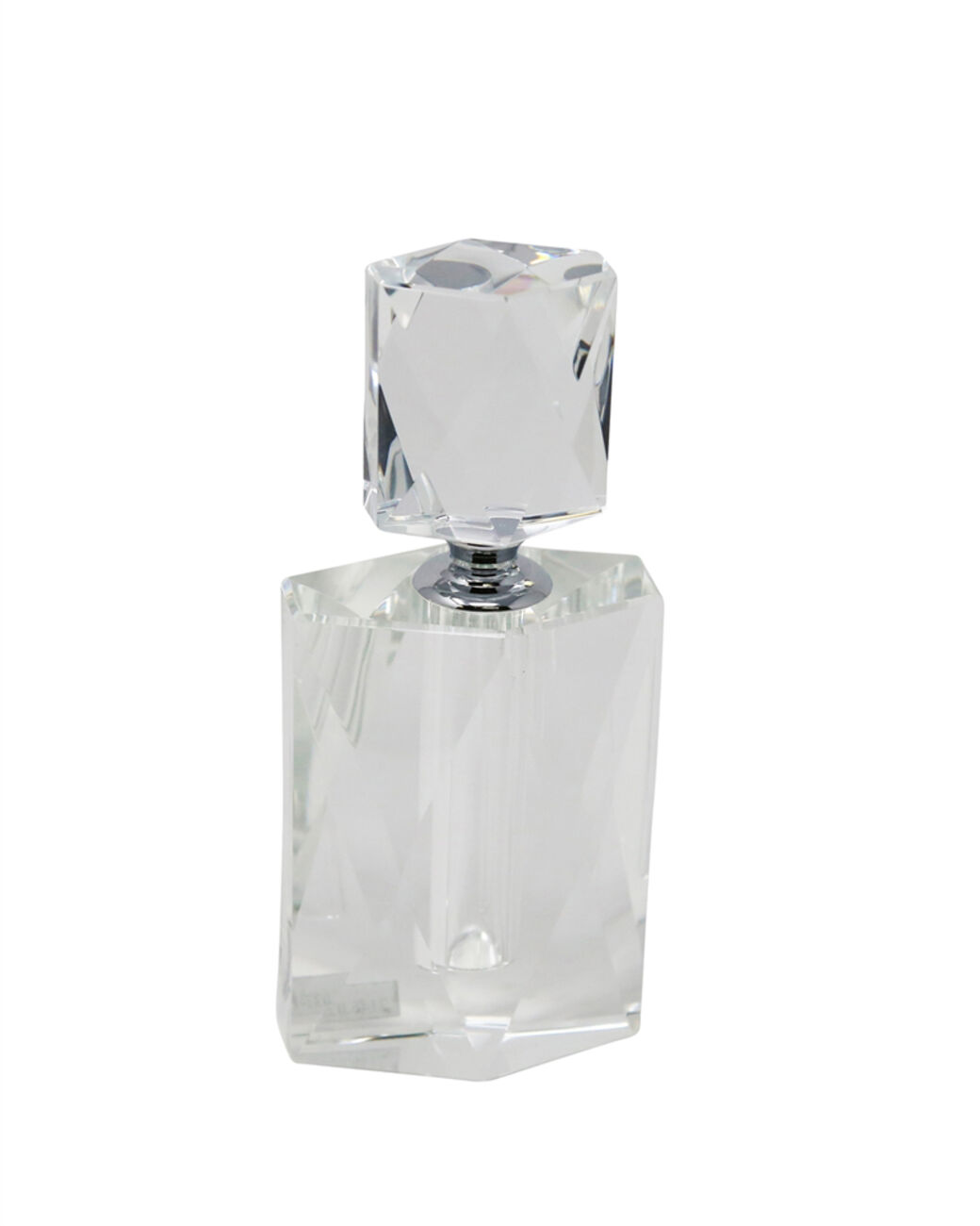 Dazzling  Crystal Perfume Bottle, Clear