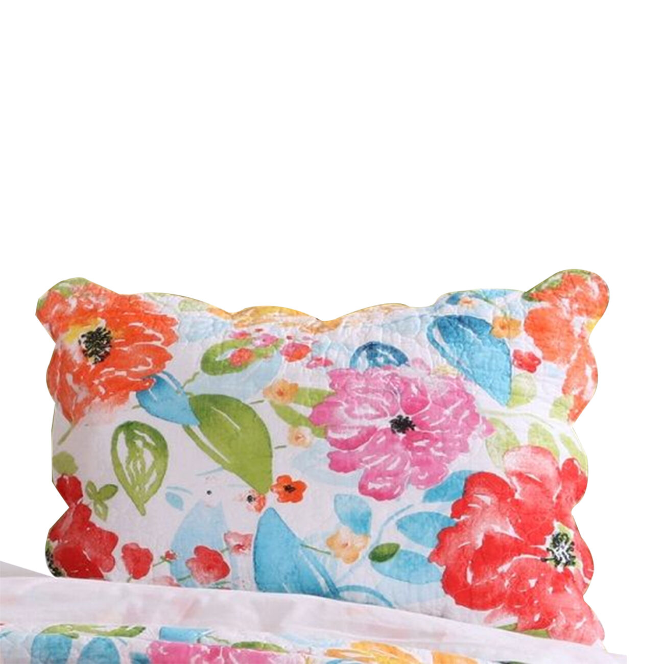 20 X 26 Floral Printed Pillow Sham with Polyester Filling, Multicolor