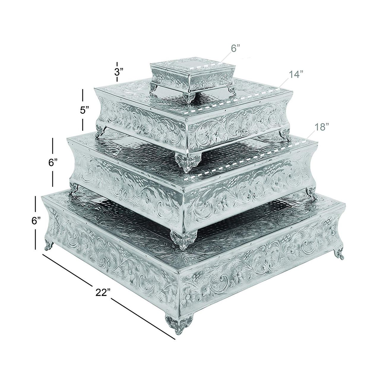 Aluminum Cake Stand Set Of 4 A Dining Area SpecificDecor