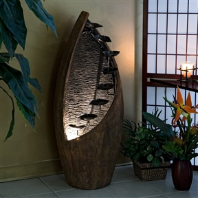 Indoor / Outdoor Cascading Trickling Fountain with Light