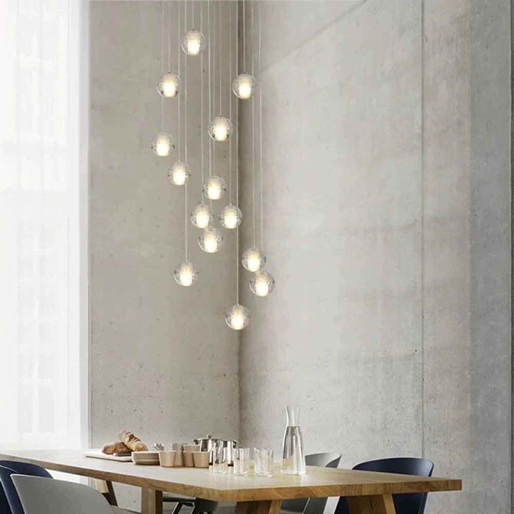 Modern G4 LED Glass Bubbles Pendant Lights